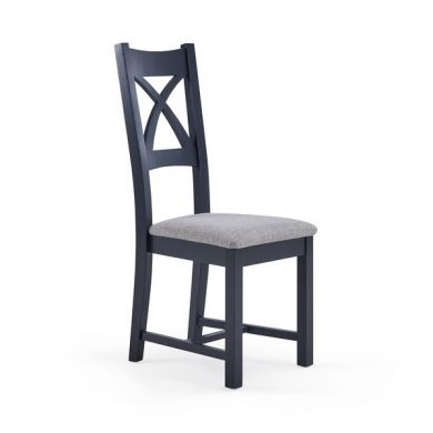 Highgate Plain Grey Fabric Dining Chair