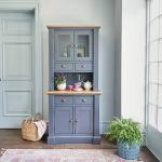 Highgate Rustic Oak and Blue Painted Hardwood Small Dresser - Thumbnail 1