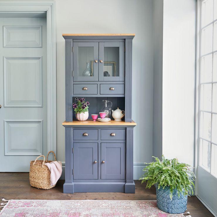 Highgate Rustic Oak and Blue Painted Hardwood Small Dresser