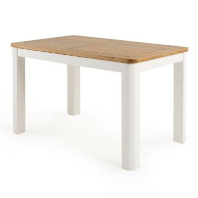 """Hove Natural Oak and Painted 4ft 3"""" Extending Dining Table"""