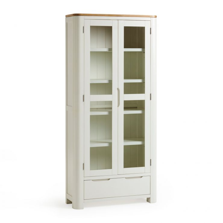 Hove Natural Oak and Painted Display Cabinet