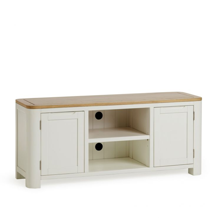 Hove Natural Oak and Painted Large TV Unit