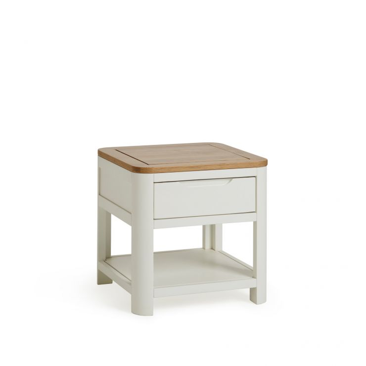Hove Natural Oak and Painted Side Table