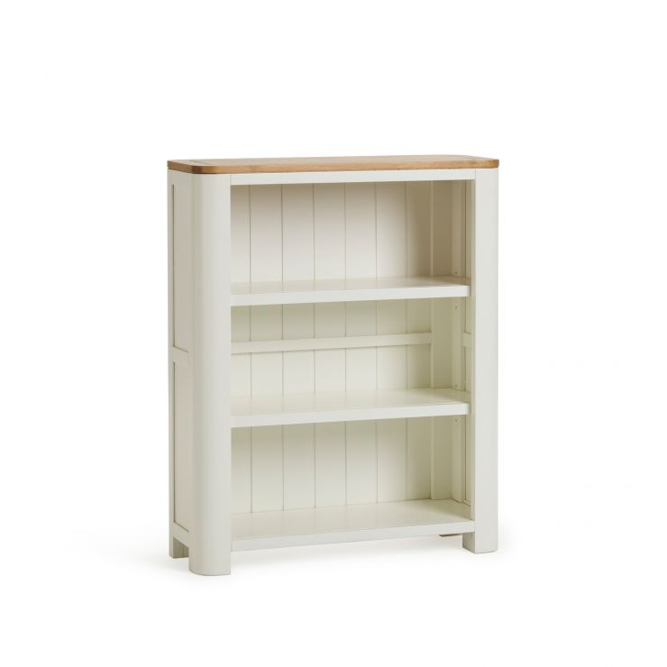 Hove Natural Oak and Painted Small Bookcase - Image 1