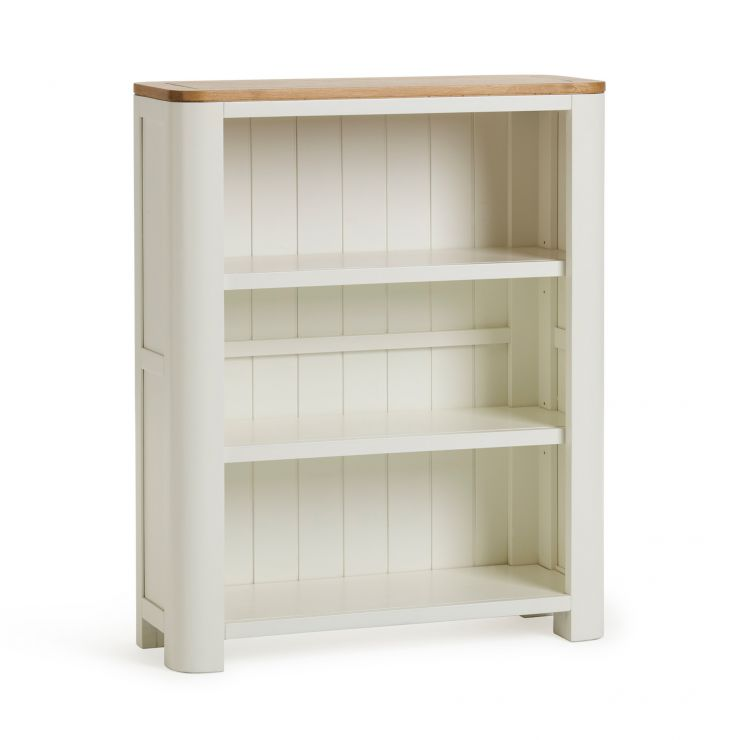 Hove Natural Oak and Painted Small Bookcase