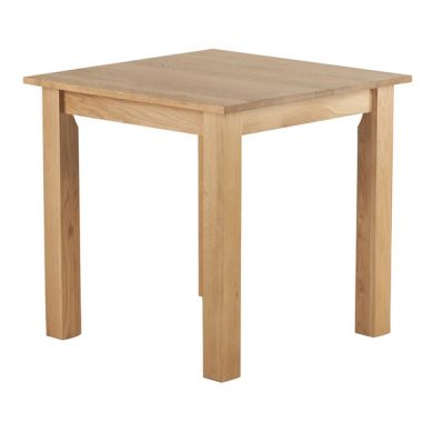 "2ft 6"" x 2ft 6"" Natural Solid Oak Square Dining Table"