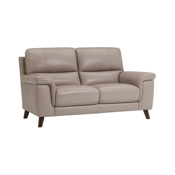 Inspire Grey Leather 2 Seater Sofa