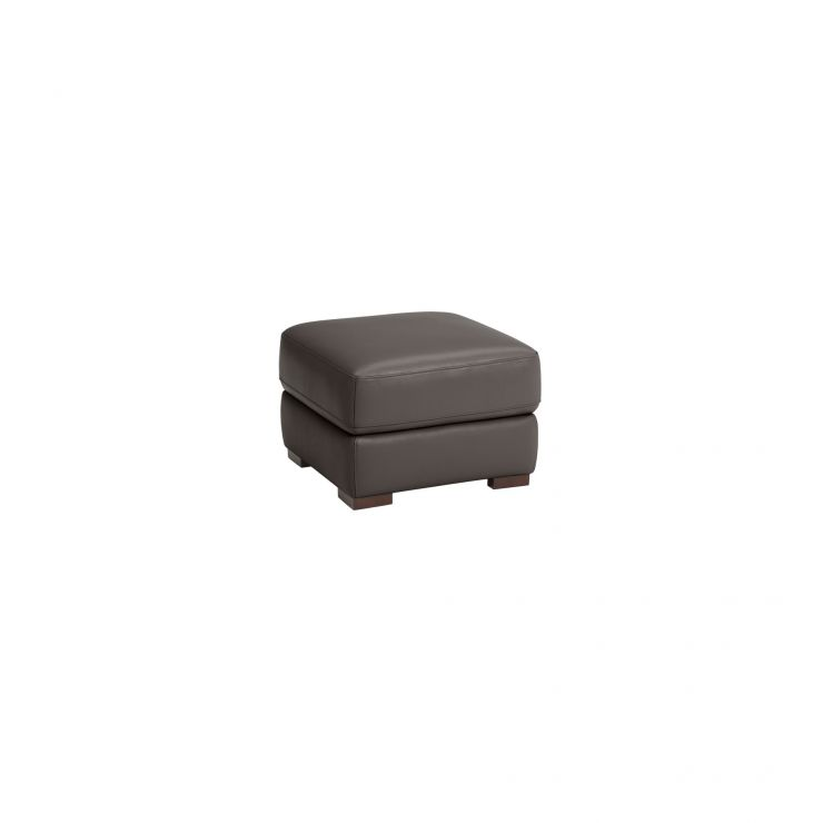Inspire Espresso Leather Storage Footstool