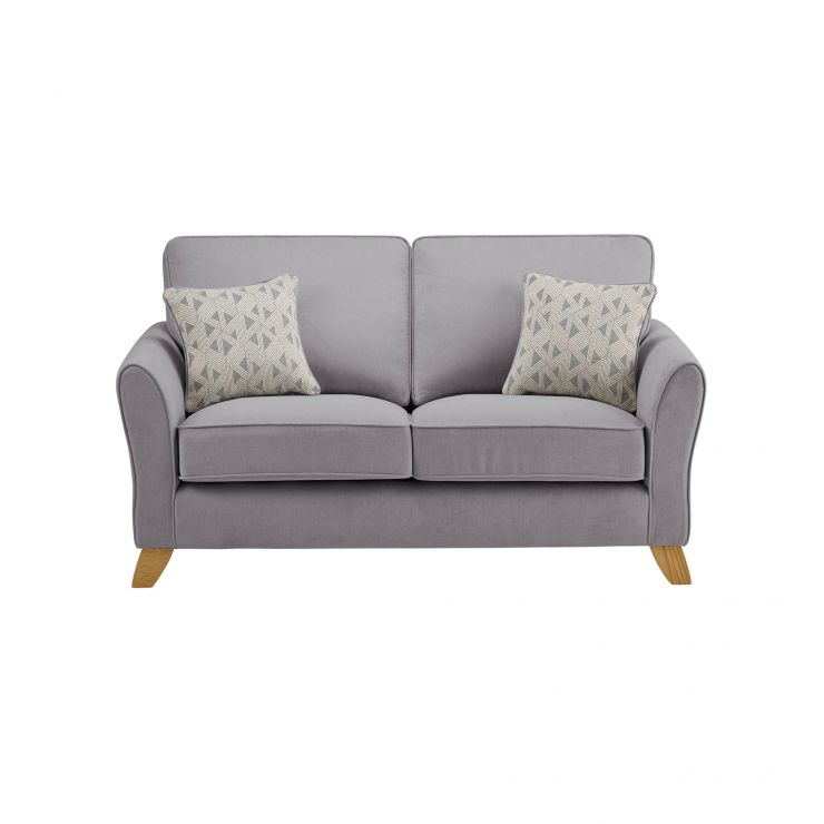 Jasmine 2 Seater Sofa in Cosmo Fabric - Pewter with Bamboo Slate Scatters - Image 2