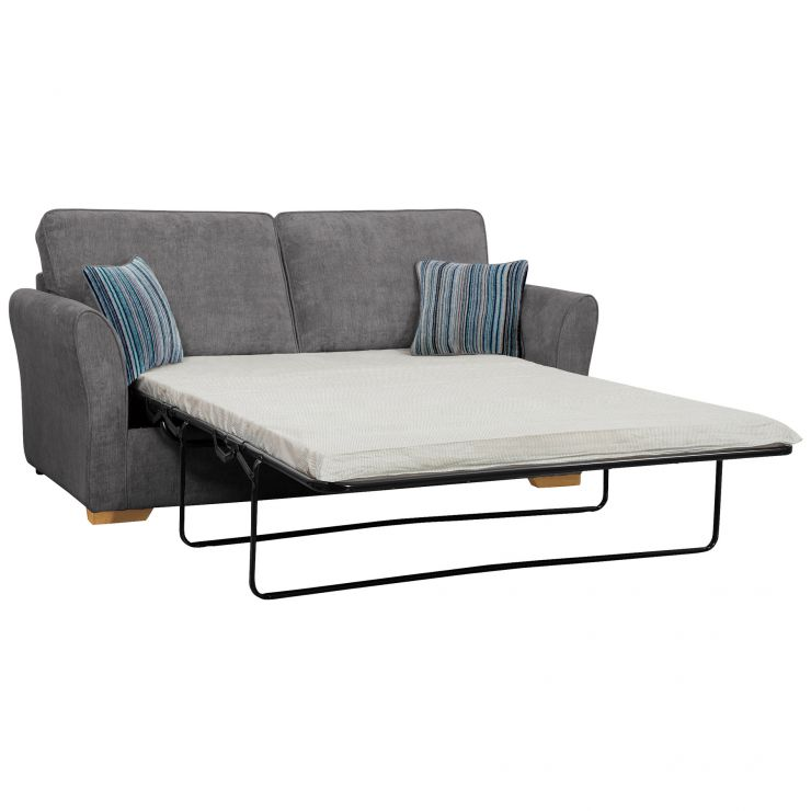Jasmine 3 Seater Sofa Bed with Standard Mattress in Pewter with Salsa Ocean Scatters - Image 2