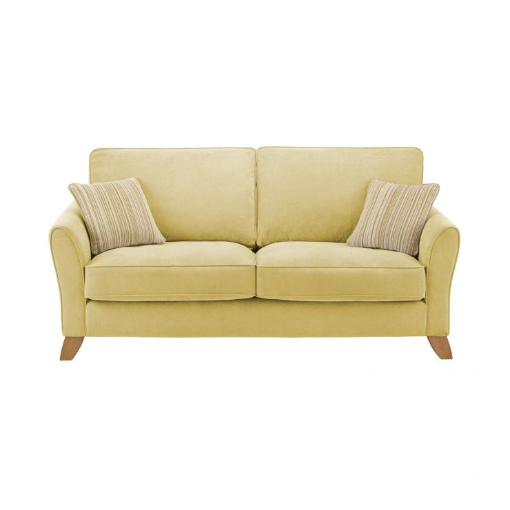 Jasmine 3 Seater Sofa in Grace Fabric - Lime with Summer Scatters