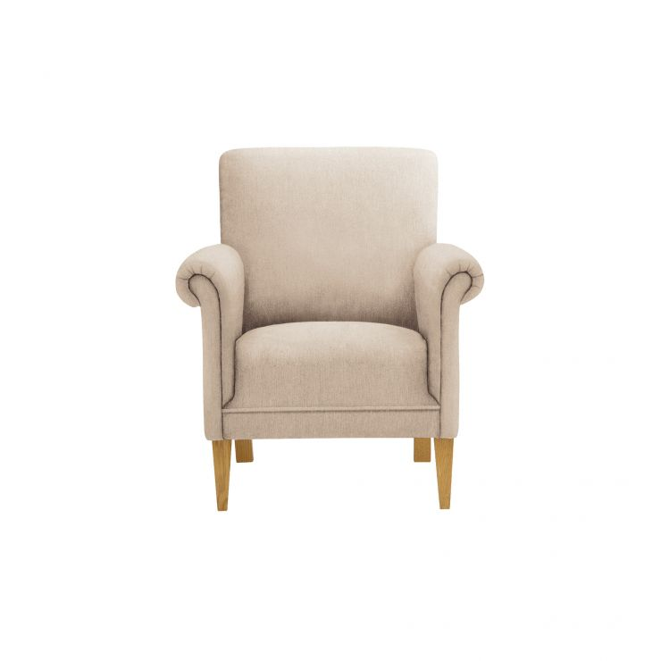 Jasmine Accent Chair in Linen and Bamboo Spice - Image 2