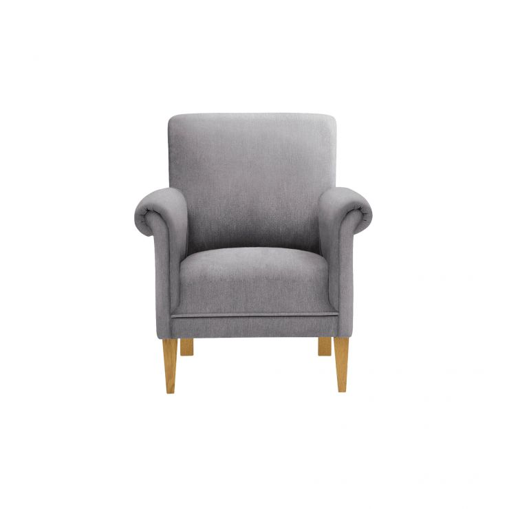 Jasmine Accent Chair in Cosmo Pewter with Cosmo Pewter Scatter Cushion