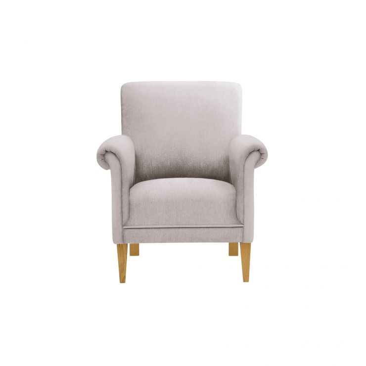Jasmine Accent Chair in Cosmo Silver with Cosmo Silver Scatter Cushion