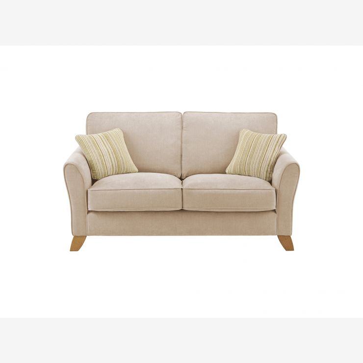 Jasmine 2 Seater Sofa in Grace Fabric - Linen with Summer Scatters