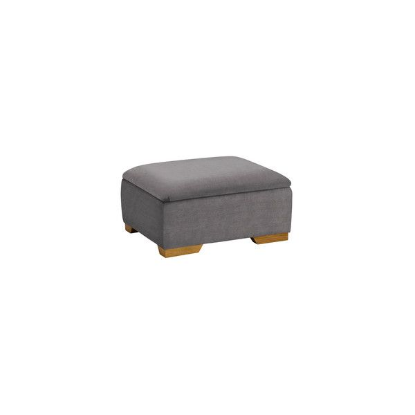 Jasmine Storage Footstool in Cosmo Pewter