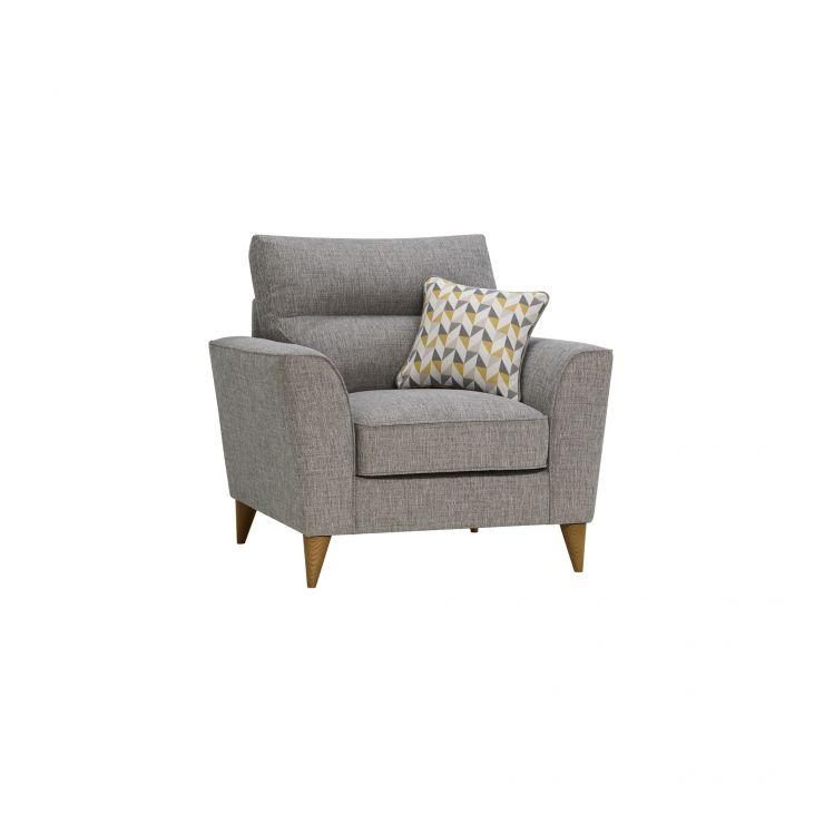 Jensen Silver Armchair with Zest Accent Cushion