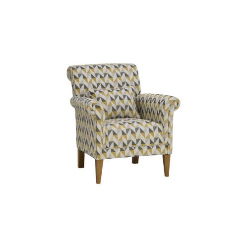Blue Balmoral Accent Chair From The Marseille Range