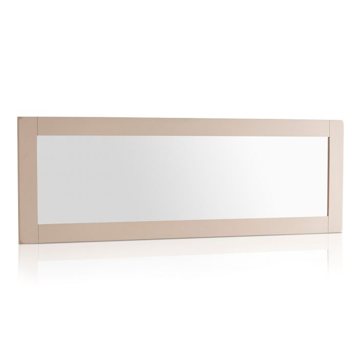 Kemble Rustic Solid Oak and Painted 1800mm x 600mm Wall Mirror - Image 4