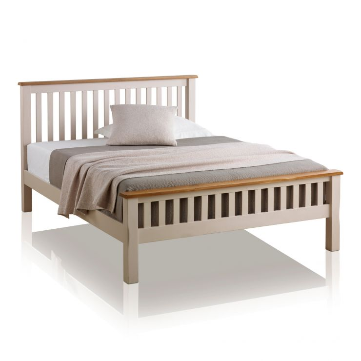 Kemble Rustic Solid Oak and Painted 5ft King-Size Bed - Image 5