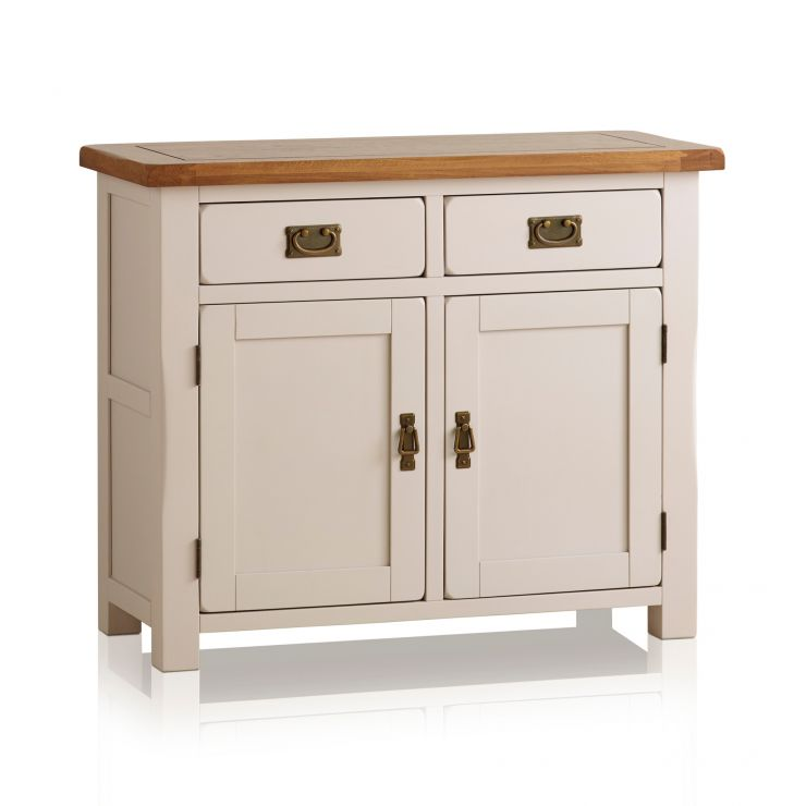 Kemble Rustic Solid Oak and Painted Small Sideboard - Image 4