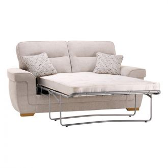 Kirby 2 Seater Sofa Bed with Deluxe Mattress - Frisco Silver with Slate Scatters