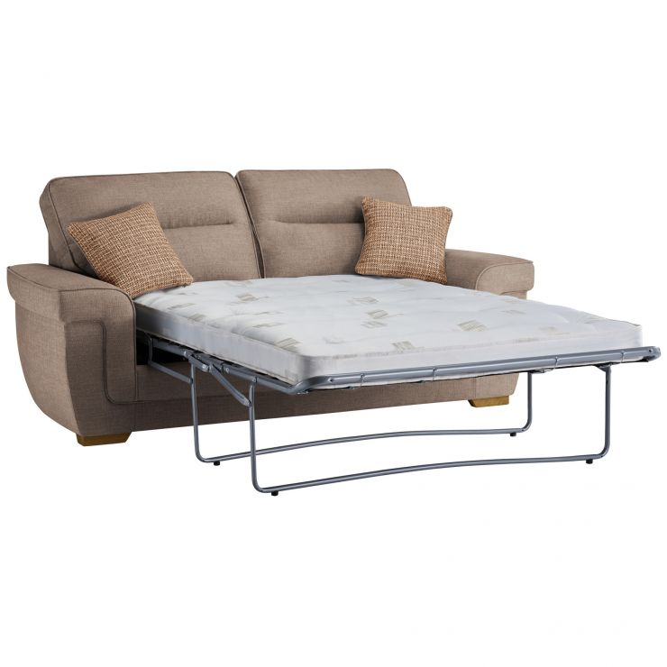 Kirby 3 Seater Sofa Bed with Deluxe Mattress in Barley Beige - Image 3