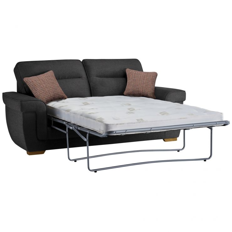 Kirby 3 Seater Sofa Bed with Deluxe Mattress in Barley Graphite - Image 3