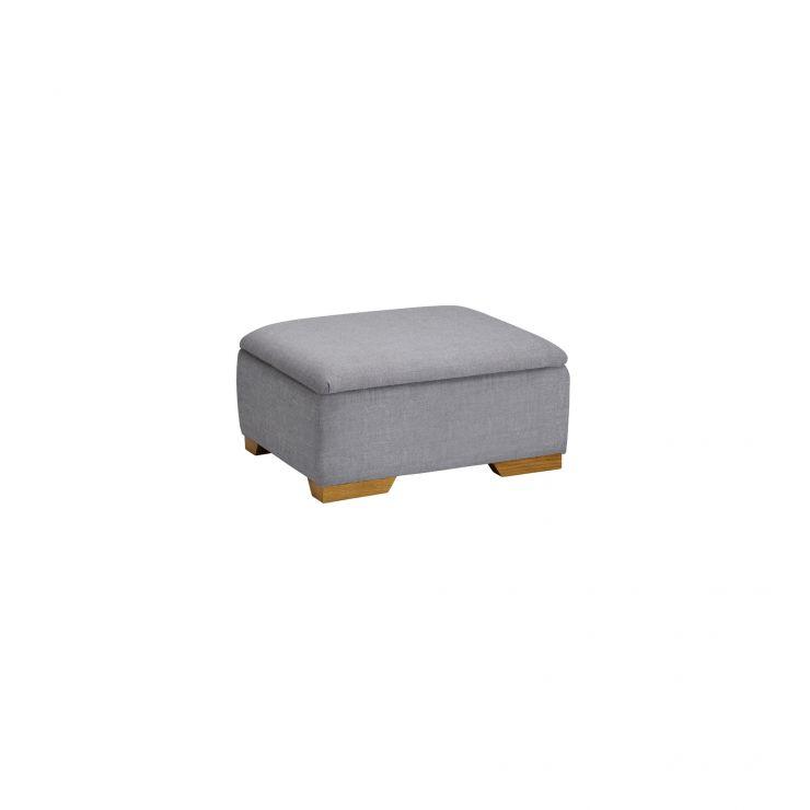 Kirby Storage Footstool in Barley Silver