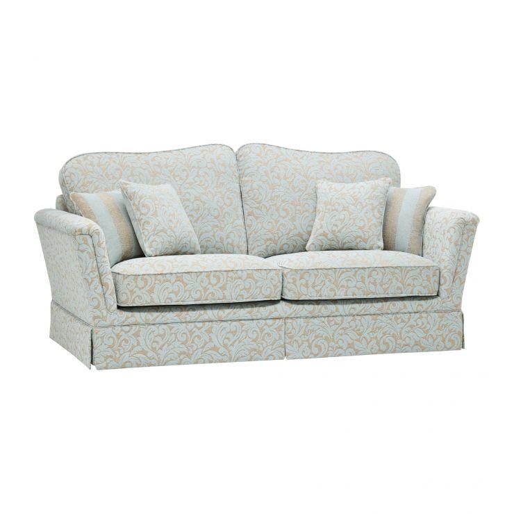 Lanesborough 3 Seater Sofa in Larkin Floral Duck Egg Fabric - Image 8