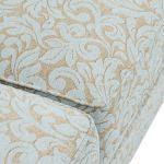 Lanesborough 3 Seater Sofa in Larkin Floral Duck Egg Fabric - Thumbnail 8