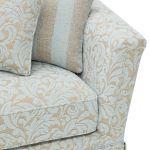 Lanesborough 3 Seater Sofa in Larkin Floral Duck Egg Fabric - Thumbnail 6