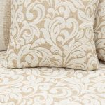 Lanesborough 4 Seater Sofa in Larkin Floral Beige Fabric - Thumbnail 7