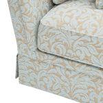 Lanesborough 4 Seater Sofa in Larkin Floral Duck Egg Fabric - Thumbnail 8