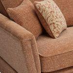 Lanesborough 4 Seater Sofa in Larkin Plain Cinnamon Fabric - Thumbnail 4