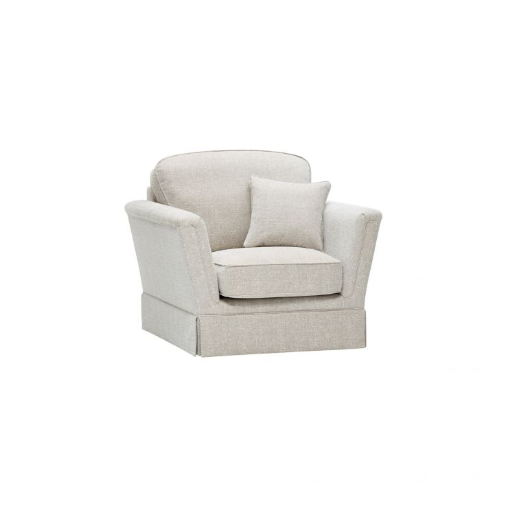 Lanesborough Armchair in Larkin Plain Cream Fabric - Image 7