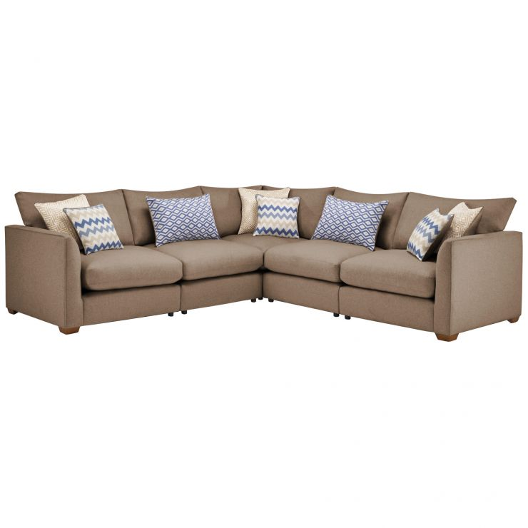 Maddox Modular Group 3 in Eleanor Mink with Cream Scatters - Image 1