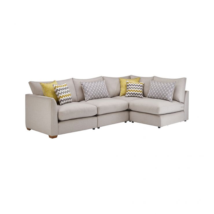 Maddox Modular Group 4 in Eleanor Silver with Lime Scatters - Image 1