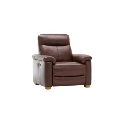 Malmo Armchair with Electric Recliner - 2 Tone Brown Leather