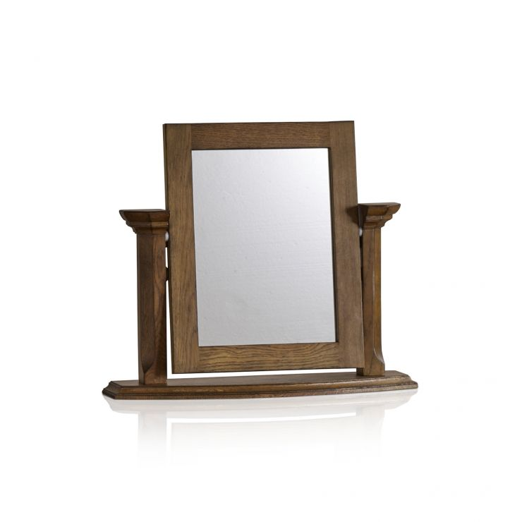 Manor House Vintage Solid Oak Dressing Table Mirror - Image 4