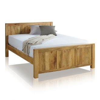 "Mantis Light Natural Solid Mango 4ft 6"" Double Bed"