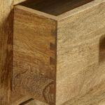 Mantis Light Natural Solid Mango 6 Drawer Storage Coffee Table - Thumbnail 5