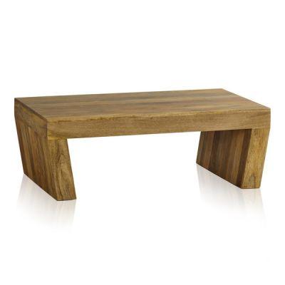 Mantis Light Natural Solid Mango Angled Coffee Table