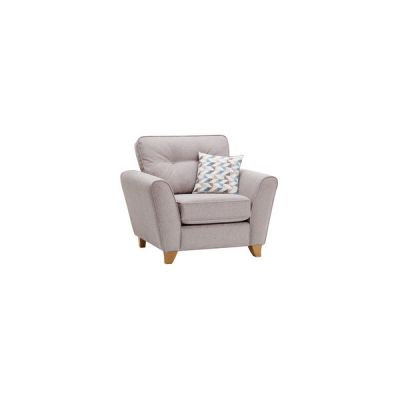Memphis Armchair in Chase Fabric - Silver