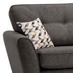 Memphis Left Hand Corner Sofa in Chase Fabric - Charcoal - Thumbnail 3