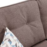 Memphis Left Hand Corner Sofa in Chase Fabric - Taupe - Thumbnail 5