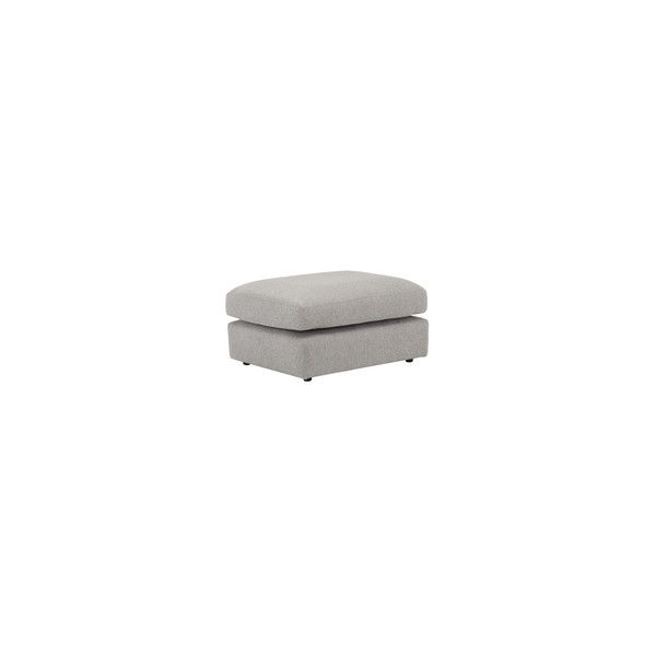 Milton Footstool in Orly Silver