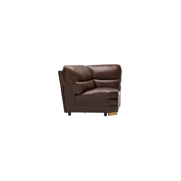 Modena Corner Module in 2 Tone Brown Leather