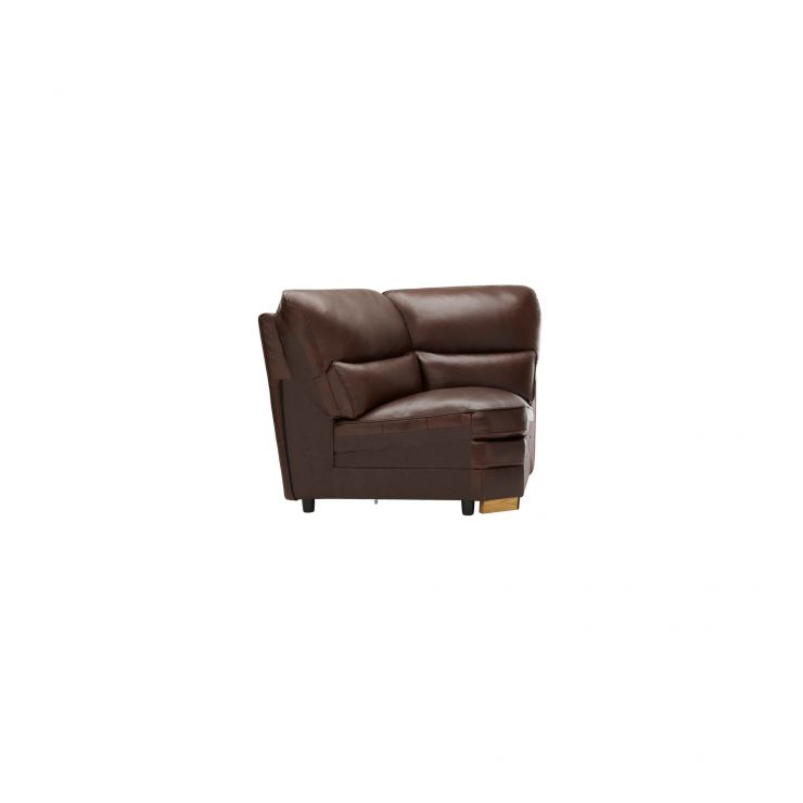 Modena Corner Module in 2 Tone Brown Leather - Image 2