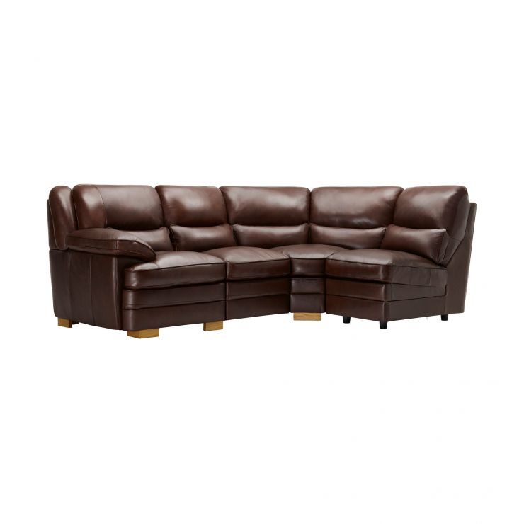 Modena Modular Group 4 in 2 Tone Brown Leather - Image 8